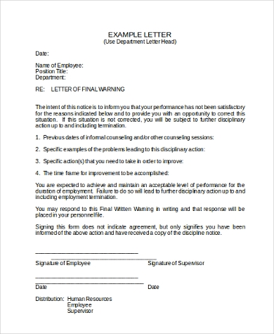 Sample Employee Disciplinary Action Form   Free Documents In