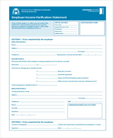 employee income verification form1