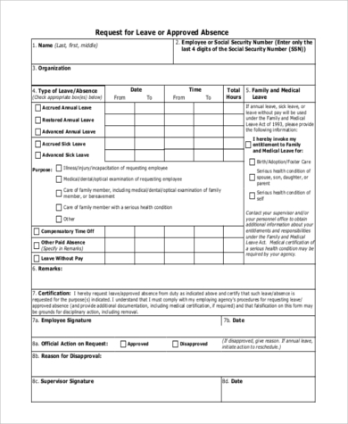 employee leave form format