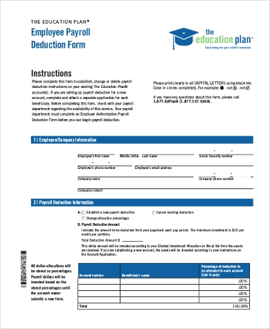employee payroll deduction form1