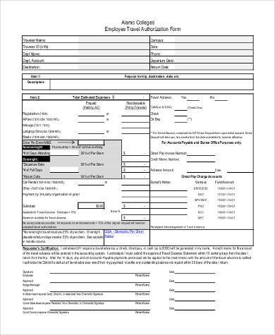 employee travel authorization form1