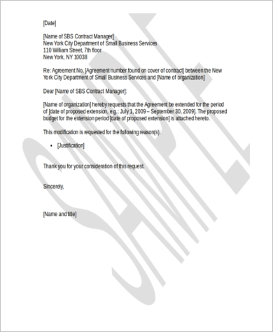 employment extension letter format 28 images sle request