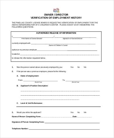 Sample Employment History Forms - 9+ Free Documents in Word, PDF