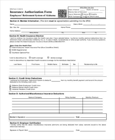 employment insurance authorization form