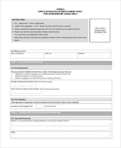 employment pass application form2