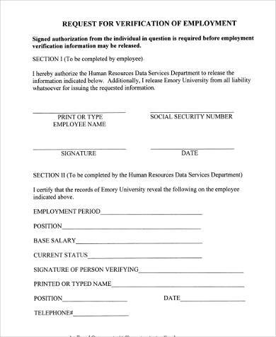 employment verification request form1