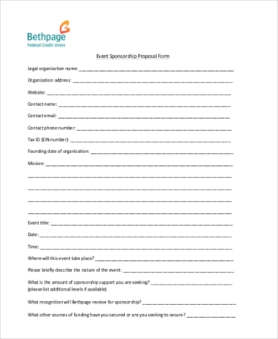 Event Proposal Sample   Free Documents In Word Pdf
