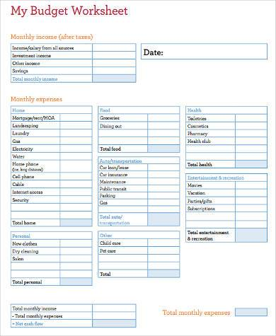 Sample Family Budget Forms - 9+ Free Documents In Word, Pdf