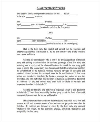 Sample Settlement Agreement Forms   Free Documents In Word Pdf