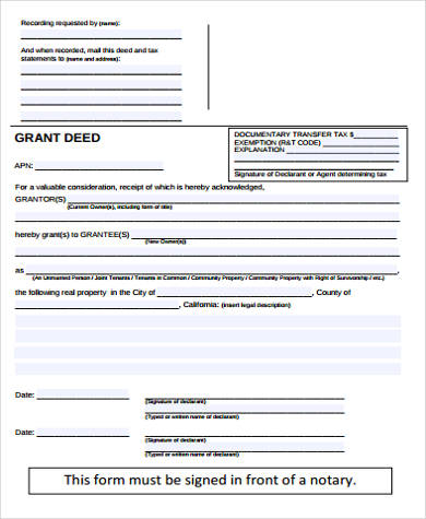 fillable grant deed form