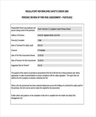 fire risk assessment review form1