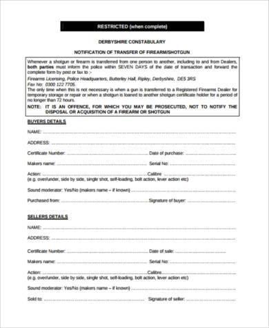 firearm transfer form pdf