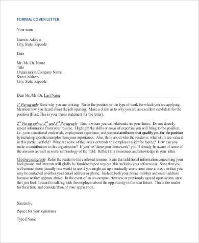 formal cover letter sample1