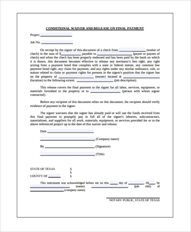 Sample Conditional Release Forms - 9+ Free Documents In Word, Pdf