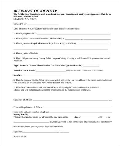 Awesome Free Affidavit Contemporary - Best Resume Examples For