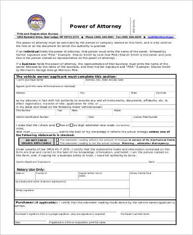 Sample Blank Power Of Attorney Forms - 8+ Free Documents In Word, Pdf