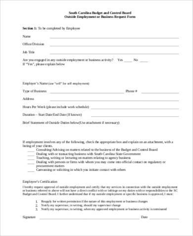 free business budget form