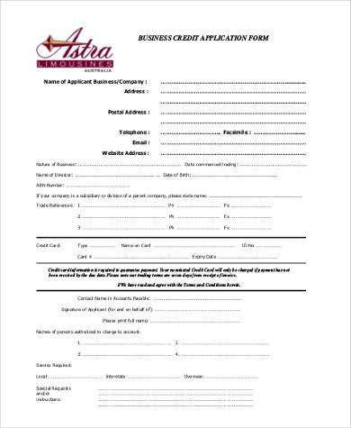 free business credit application form1