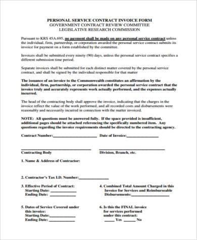 free job invoice form