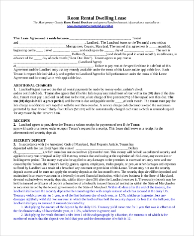 Free Rental Lease Agreement Form - 10+ Free Documents In Word, Pdf