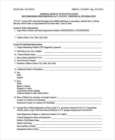 free security risk assessment form