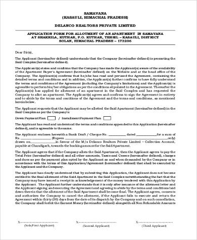 general apartment application form1