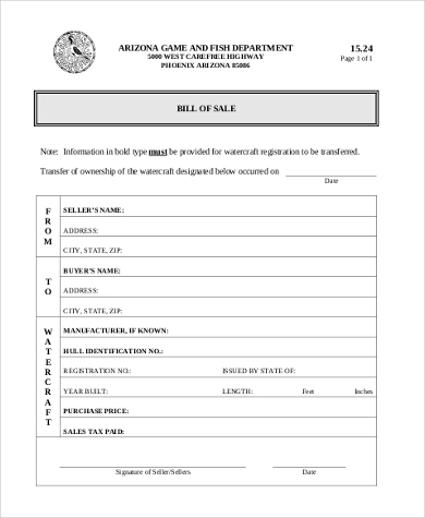 General Bill Of Sale Form Sample   Free Documents In Pdf