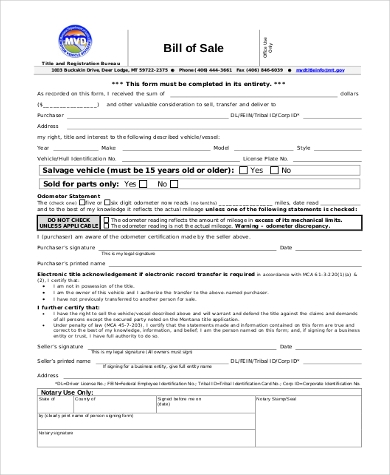 General Bill of Sale Form Sample - 8+ Free Documents in PDF