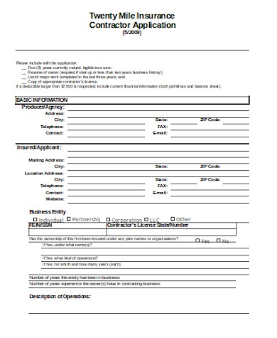 general contractor application form