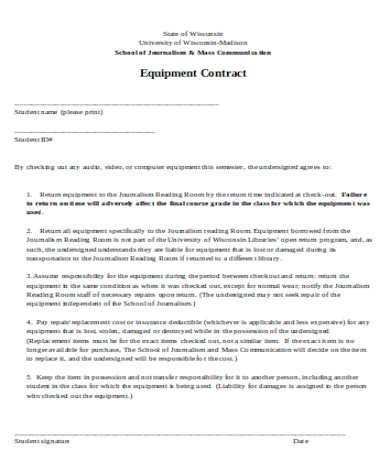 general equipment contract form