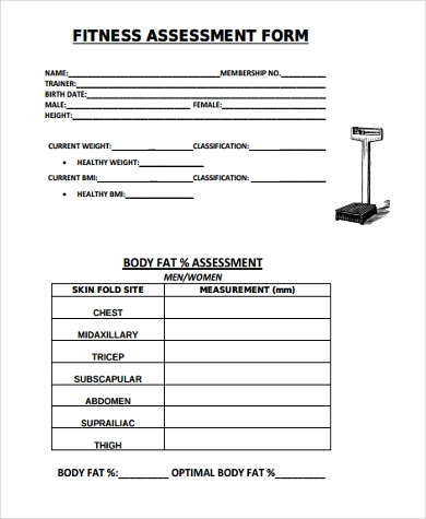 general fitness assessment form