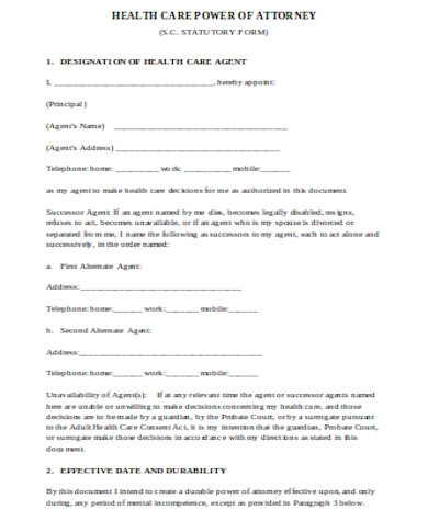 general health care power of attorney form