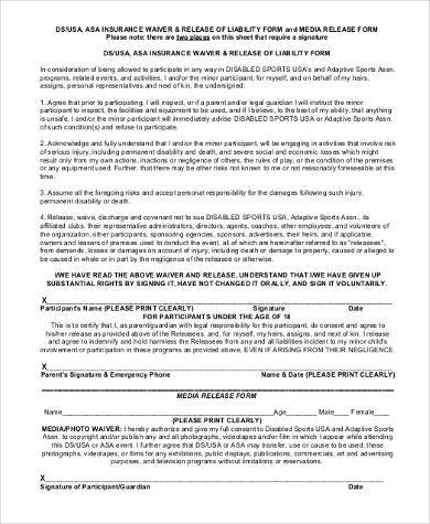 General Liability Release Form Samples   Free Documents In Pdf