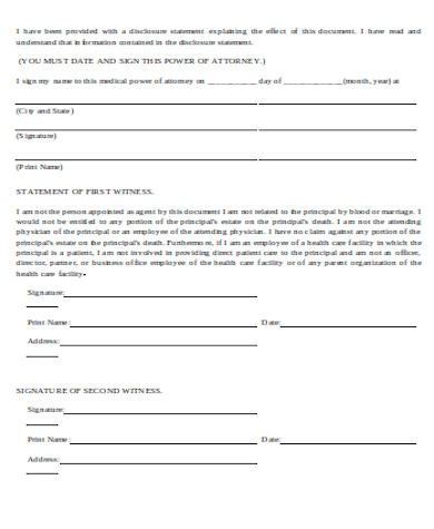 general medical power of attorney form