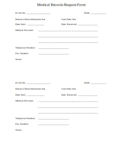 general medical records request form