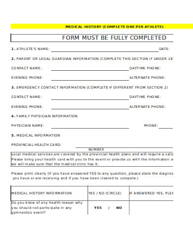 general medical waiver form