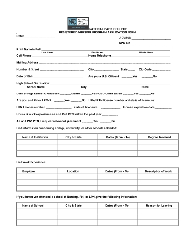 General-Nursing-Application-Form General Scholarship Application Form on template parolees, editable pdf, examples high school, basic college, guyanese government, simple athletic, sample nz, chinese government,