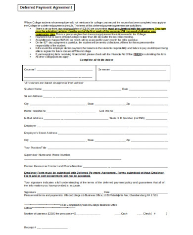 general payment agreement form