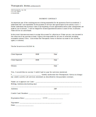 general payment contract form