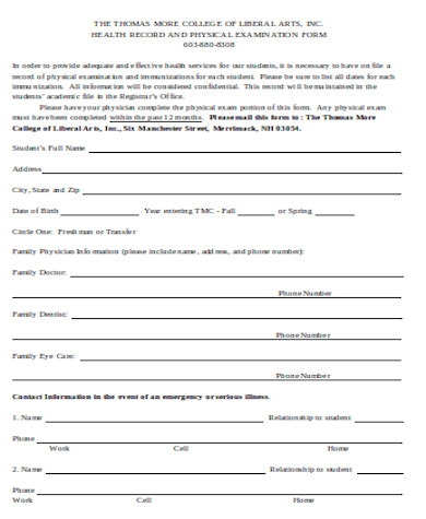 general physical examination form1