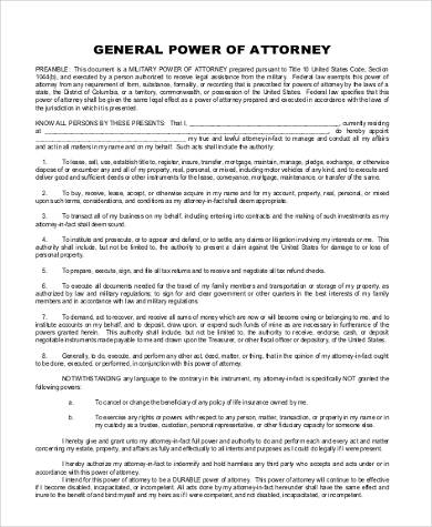 General Power Of Attorney Form Samples - 7+ Free Documents In Word