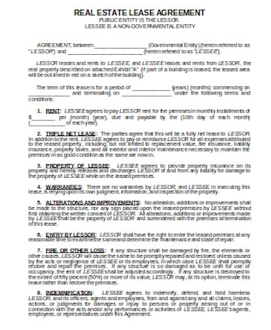 general real estate lease agreement form