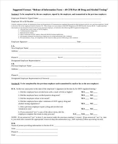 general release of information form