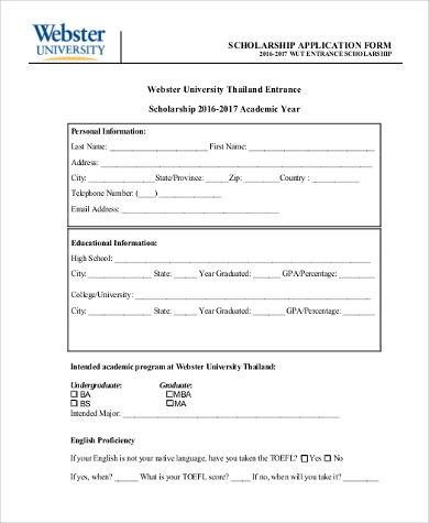 General Application Form Samples   Free Documents In Pdf