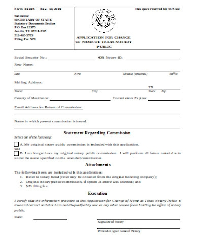 general social security name change form