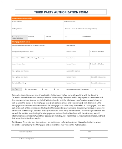 general third party authorization form