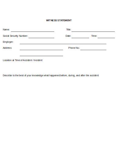 general witness statement form
