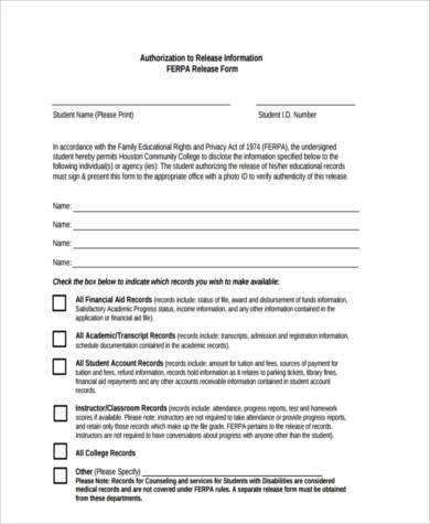 generic authorization release form