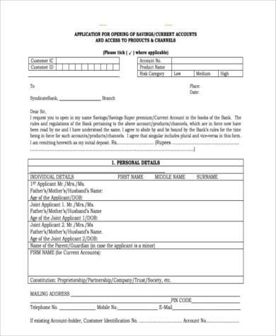 generic business accounting form