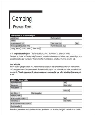 generic campaign proposal form